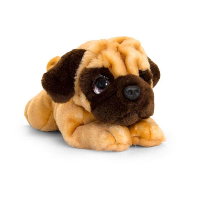 Peluche signature chien carlin 32 cm