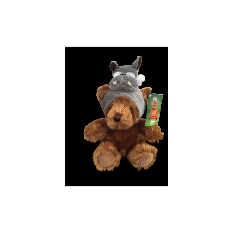 peluche ours teddy grand méchant loup 28 cm