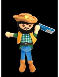 Peluche cowboy playmobil 32 cm