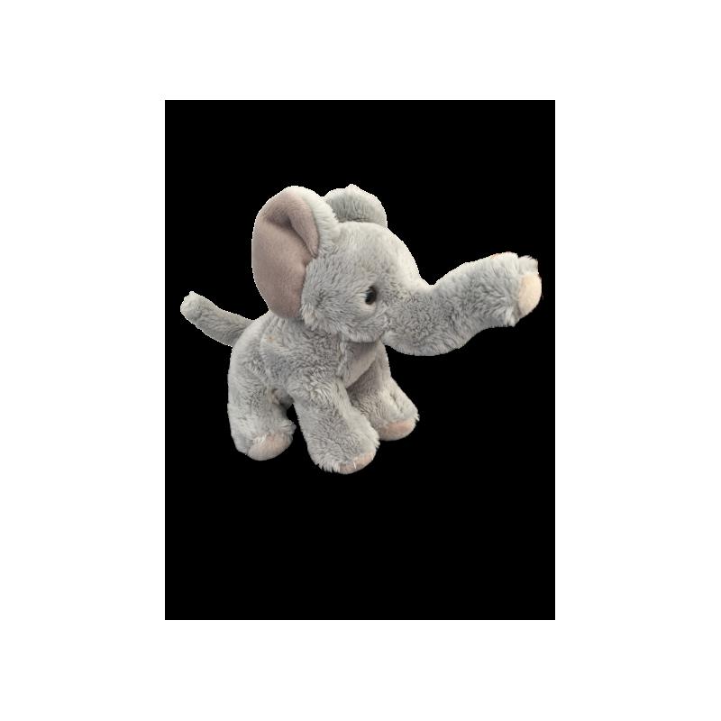 Peluche éléphant fait à la main de 12 cm