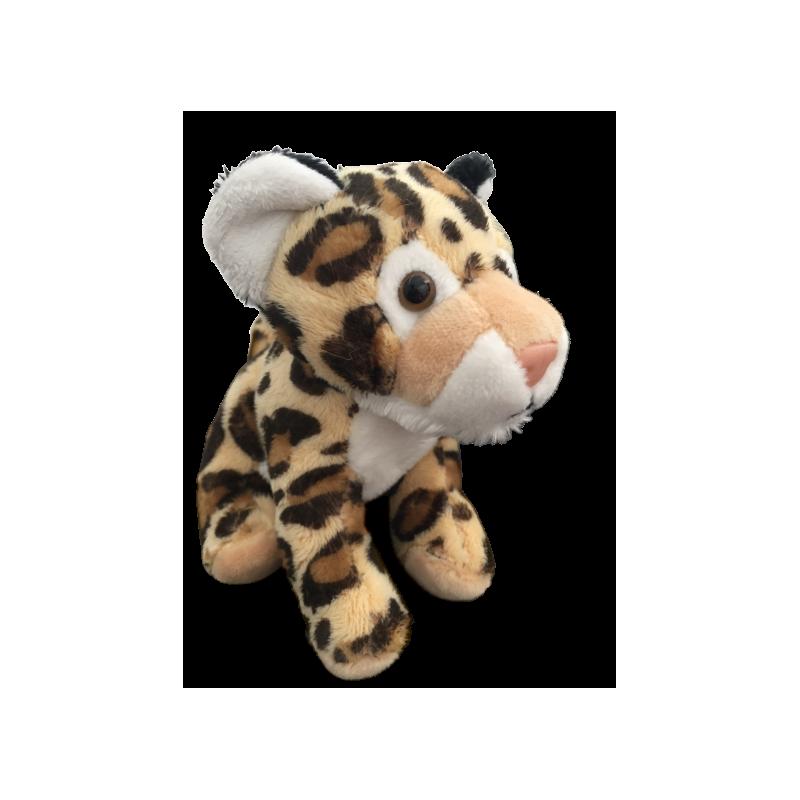 Peluche leopard fait à la main de 12 cm