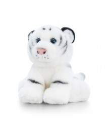 Peluche tigre blanc assis...