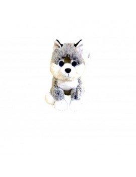 Peluche chien husky de 26 cm