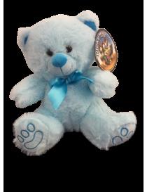 Peluche ours bleu tout doux...