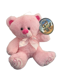 Peluche ours rose tout doux...