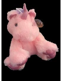 Peluche licorne rose de 25 cm
