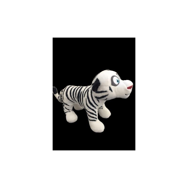 Peluche tigre blanc de comme des bêtes 2 en 32 cm