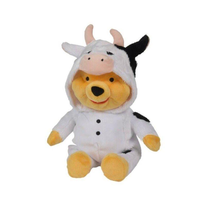 Peluche winnie l'ourson costume vache  25cm Disney