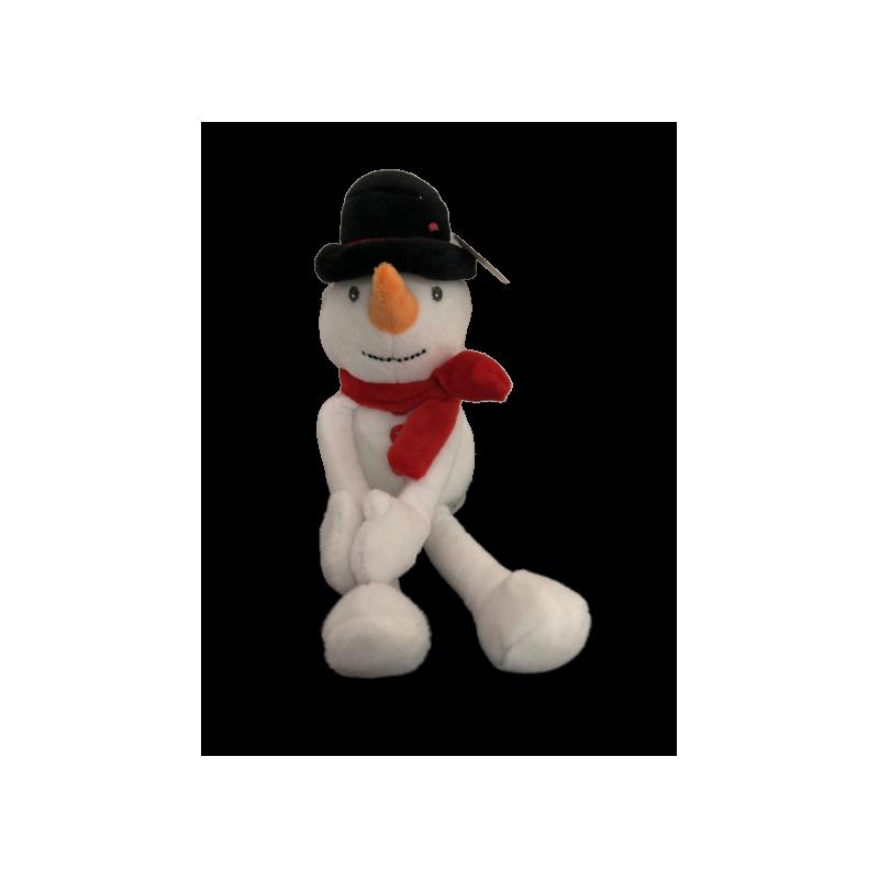 Peluche bonhomme de neige 24 cm