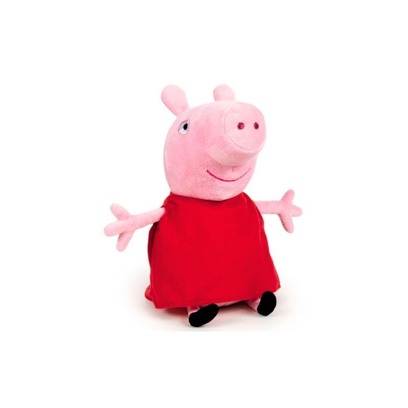 Peluche peppa pig robe rouge 25 cm
