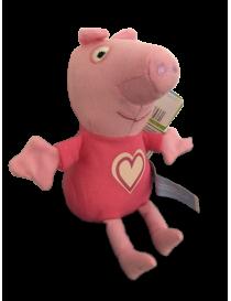 Peluche peppa pig rose 12 cm