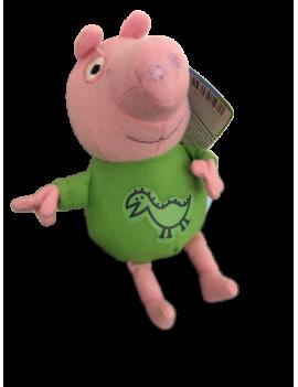 Peluche peppa pig vert 12 cm