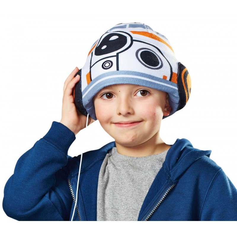 Casque audio star wars BB-8 en peluche
