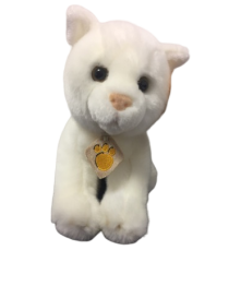 Peluche chat blanc de 23 cm