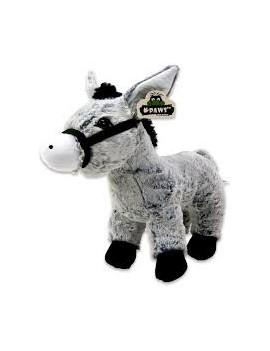 Peluche âne gris 32 cm