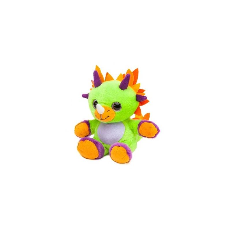 Peluche Dino avec yeux scintillants 20  cm