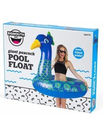 Bigmouth Pool Float Gonflable Giant Peacock 120cm