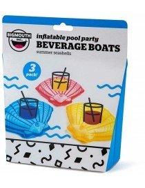 Bigmouth Gonflable Beverage Boats Summer Seashells 3-pack