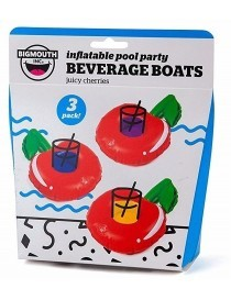 Bigmouth Gonflable Beverage Boats Juicy Cherries 3-pack