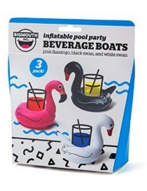 Bigmouth Gonflable Beverage Boats Tropical Birds 3-pack