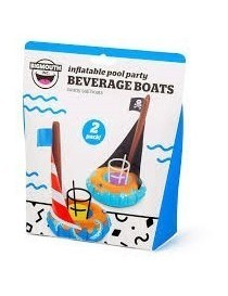 Bigmouth Gonflable Beverage Boats Sail Boats 2-pack