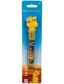 Disney Lion King 10 Stylo de Couleur 16cm