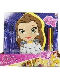 Disney Princess Colour and Go Oreiller avec des marqueurs 2 assortis 26x29cm