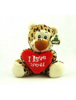 """Peluche léopard"""" I love you..."""