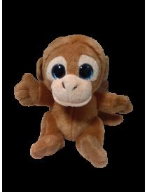 Peluche singe marron yeux...