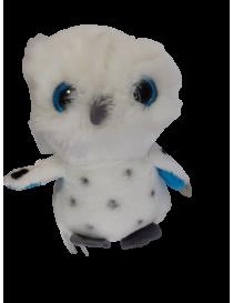 Peluche Hibou blanc yeux...
