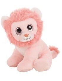 Peluche lion rose aux gros...