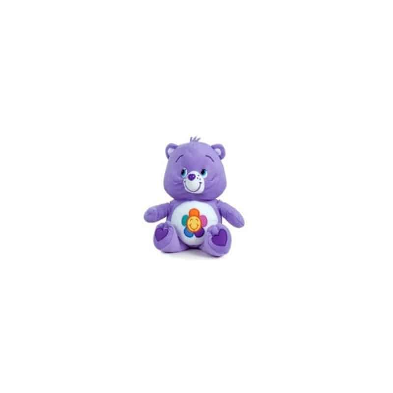 Peluche bisounours violet 28 cm