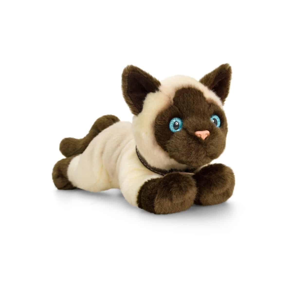 PELUCHE CHAT SIAMOIS 30CM