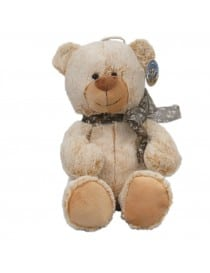 Peluche ours assis beige 30 cm