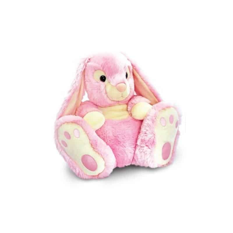 Peluche Lapin Patchfoot rose 25 cm