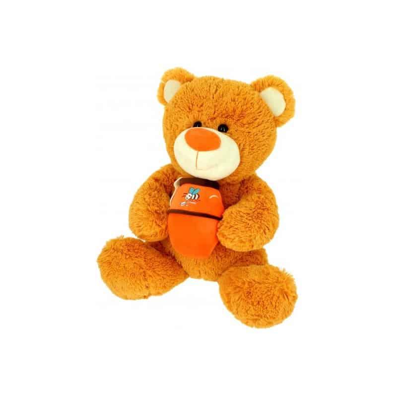Pleuche ours avec son miel 42CM