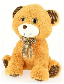 Peluche ours assis yeux...