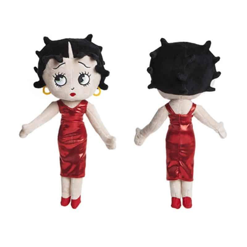 Peluche Betty Boop robe rouge 23 cm