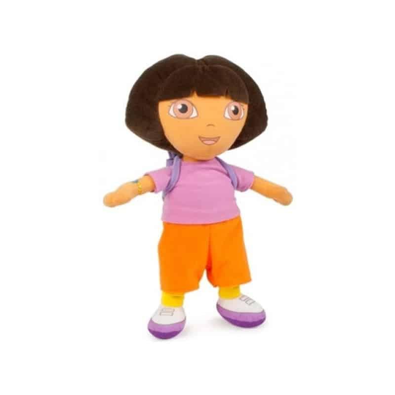 Peluche Dora L'exploratrice avec son sac à dos  33CM