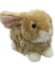 Peluche Lapin Assis Marron...