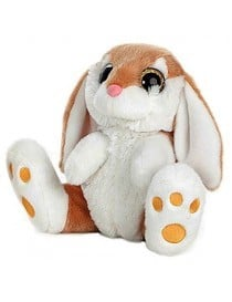 LAPIN MARRON YEUX BRILLANT T1 20CM