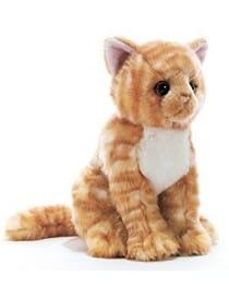 Peluche Chat roux 26 cm