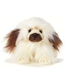 Peluche chien pékinois 30 cm