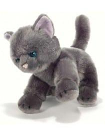 Peluche chat Gris yeux...