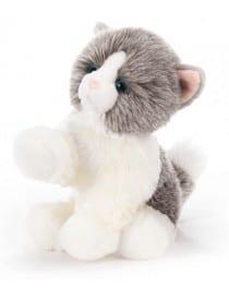 Peluche chat gris et blanc...