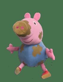 Peluche Peppa pig bleu avec...