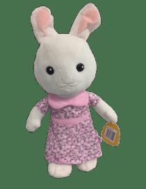 Peluche lapin blanc en robe...