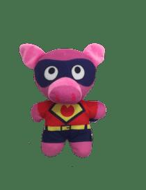 Peluche cochon superheroes...
